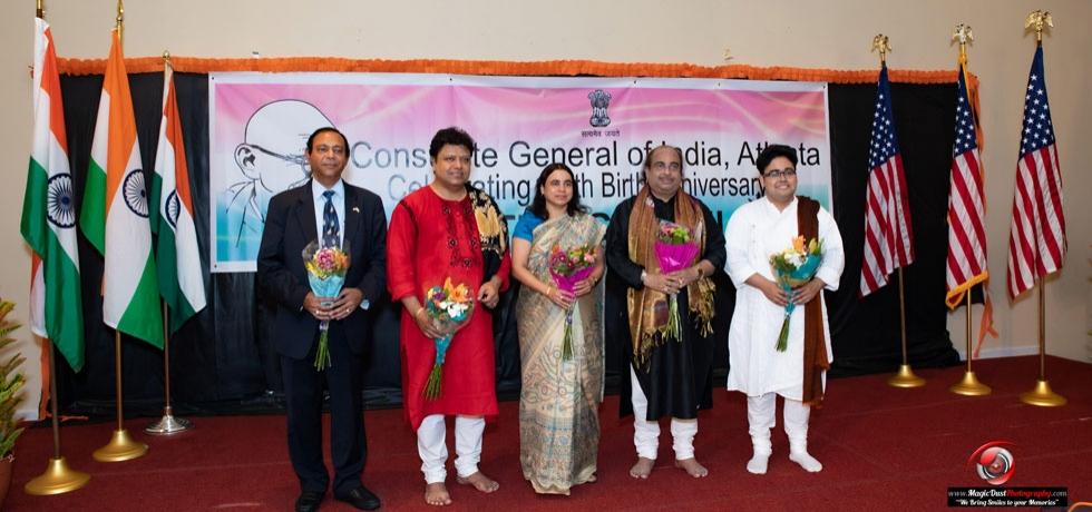 Music of India, a Concert as part of 150th Birth Anniversary of Mahatma Gandhi by Eminent duo of Sarod Maestros Pandit Tejendra Narayan Majumdar, Indrayudh Majumdar and on Tabla by Pandit Subhankar Banerjee on June 24